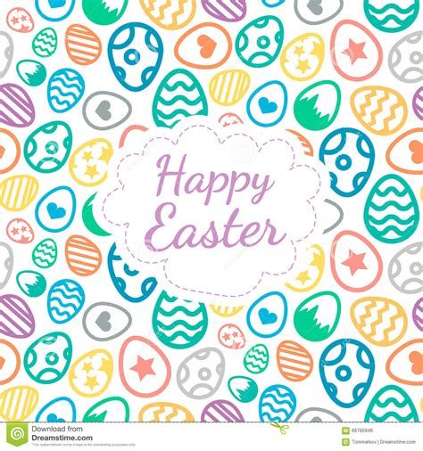 color of happy happy easter greeting card background color of the eggs