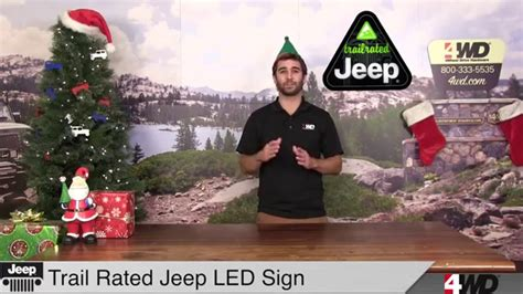 jeep trail sign day 3 trail rated led jeep sign trek armor universal