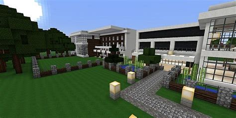 the biggest house in minecraft modern minecraft houses greenland complex minecraft project