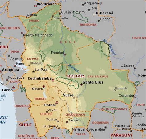 map of bolivia map of bolivia