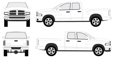 Blueprint Car Decals Choice Image Blueprint Design And Blueprint Download Free Dodge Ram Wrap Template