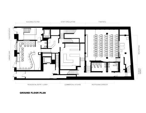 movie theatre floor plan gallery of nitehawk cinema and apartments caliper studio 3