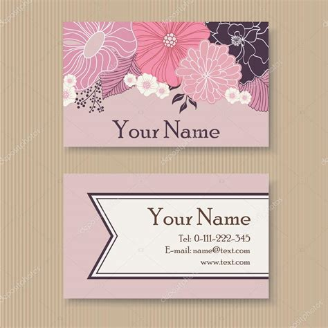 floral business cards templates beautiful floral business card template stock vector
