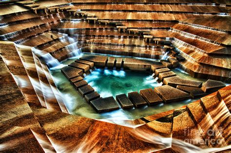 the cascading falls fort worth water garden pyrography