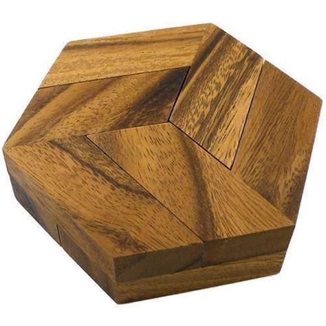 hexagon puzzle wood brain teasers wooden puzzles wooden