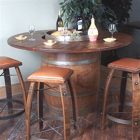 Vintage Oak Wine Barrel Bistro Table Vintage Oak Wine Barrel Bistro Table Wine Enthusiast
