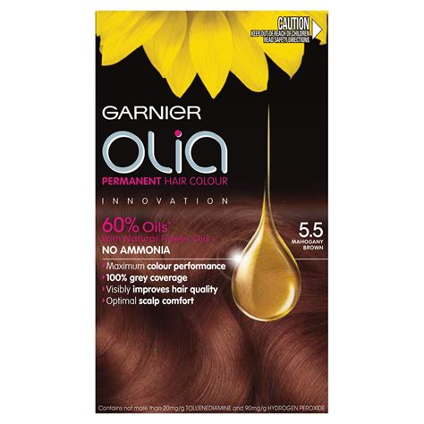 garnier olia permanent hair colour 5 5 mahogany brown 1