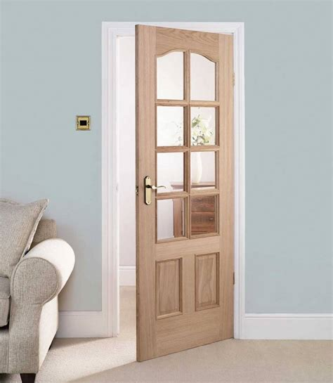 Inside Glass Doors Interior Wooden Doors With Glass Panels Door Six Panel Interior Oak Doors Glass Panel