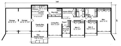 earth sheltered floor plans earth sheltered home plans earth berm house plans and in