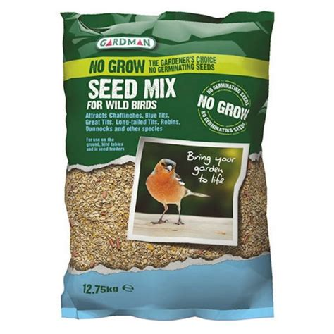 gardman no grow seed mix for wild birds 12 75kg