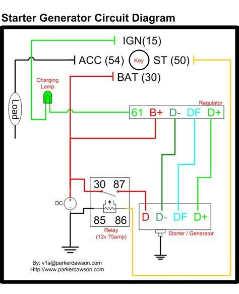 delco starter generator wiring diagram get free image