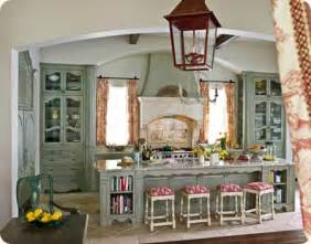 French Country Cabinets Kitchen Blue Cabinets In A French Country Kitchen Best Home