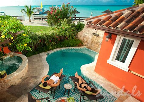 sandals resorts with swim up rooms sandals resorts caribbean get away today deals