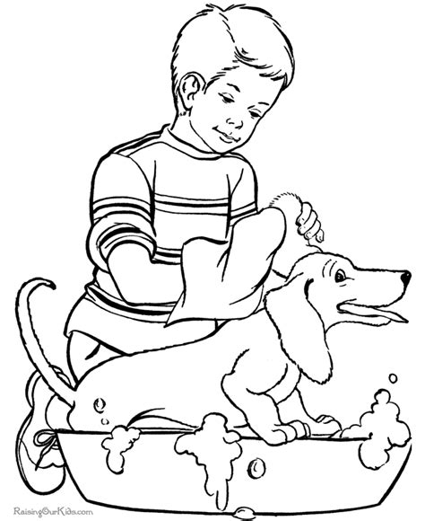 pets coloring page coloring home