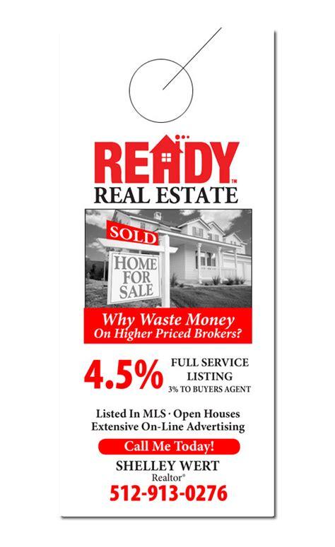 Real Estate Door Hanger Sles Free Real Estate Door Hanger Template