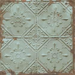 Distressed tin tiles wallpaper lelands wallpaper