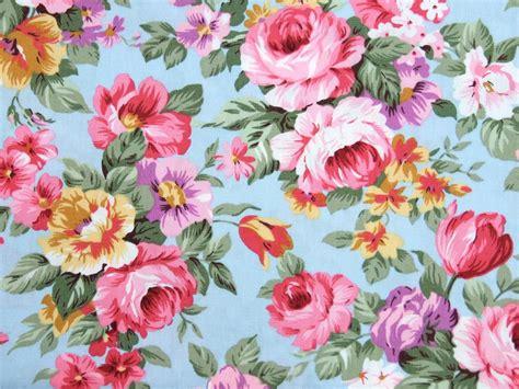 flower pattern dress fabric blue vintage chic large floral 100 cotton fabric dress
