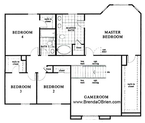 4 bedroom ranch floor plans black ranch floor plan kb home model 2886 upstairs