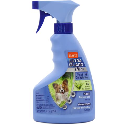 flea spray for puppies hartz ultraguard plus flea tick spray for dogs 16 oz entirelypets