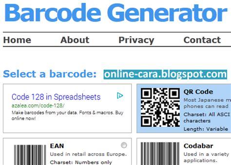 cara membuat id card barcode cara membuat barcode secara online online cara