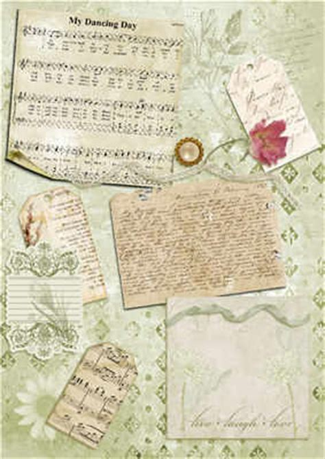 free backing papers for card script and tags collage backing paper