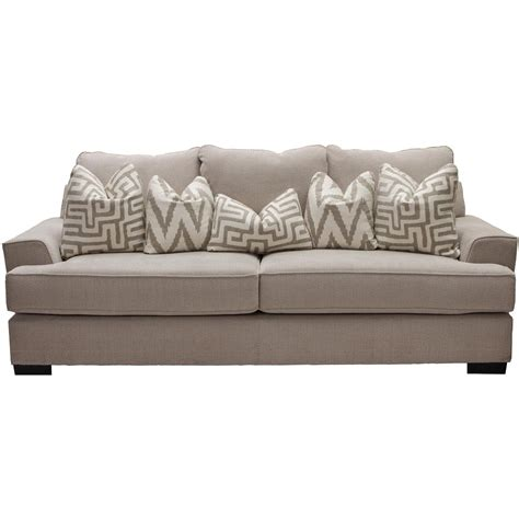 Casual Sofas And Chairs Renegade Oatmeal Upholstered Casual Sofa
