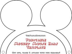 mickey mouse template free free mickey mouse ears template the zone