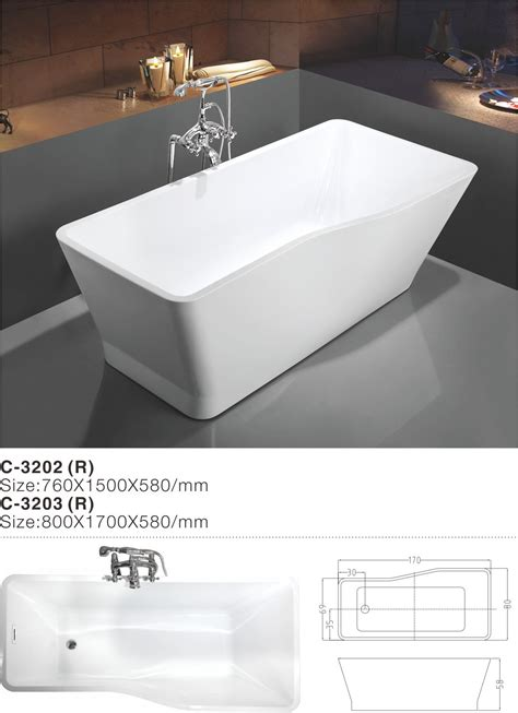 wholesale bathtubs suppliers china 2017 new modern simple fashion acrylic free standing