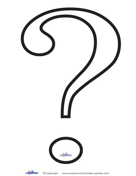 coloring page question mark best photos of question mark template black question