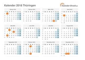 Kalender 2018 Deutschland Feiertage Feiertage 2018 Th 252 Ringen Kalender