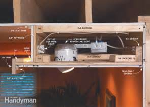 how to build a recessed ceiling how to build a soffit box with recessed lighting the