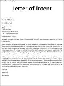 letter of intent template free word templates letter