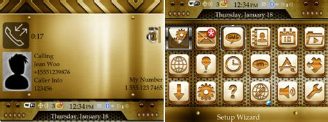 themes blackberry os 7 1 gold theme for blackberry curve 9350 9360 9370 os7
