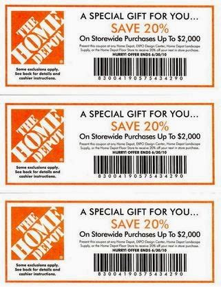 home depot printable coupons july 2017