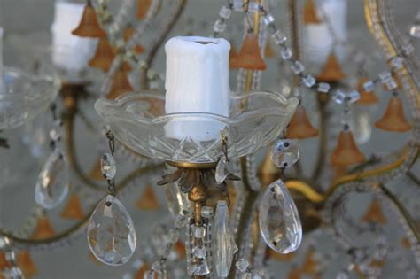 Coloured Glass Chandelier Six Light Colored Murano Glass Chandelier For Sale At 1stdibs