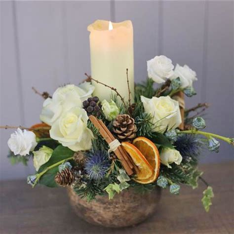 christmas table centre white kay s florist rialto dublin 8