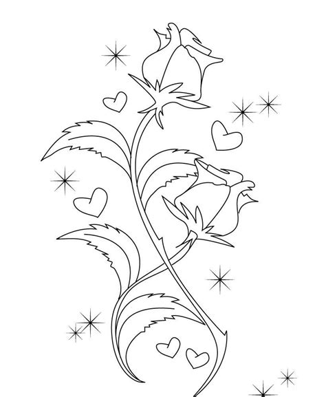 black and white coloring pages of roses cute roses valentines coloring pages valentine coloring