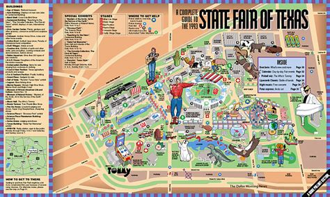state fair of texas map the state fair of texas 1993