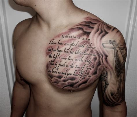 good tattoo quotes for guys chest chest tattoos for men with best and unique design of art