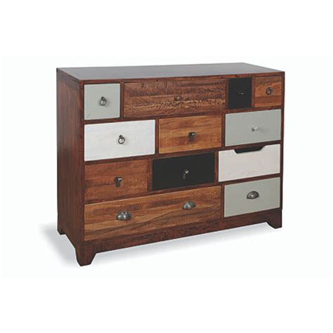 12 Drawer Chest Of Drawers by Rye 12 Drawer Chest Of Drawers Multicoloured Chest Of