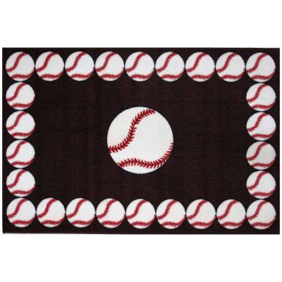 baseball rug baseball time rectangular rugs jcpenney