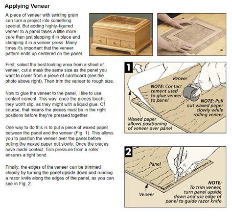 applying veneer woodworking tips techniques