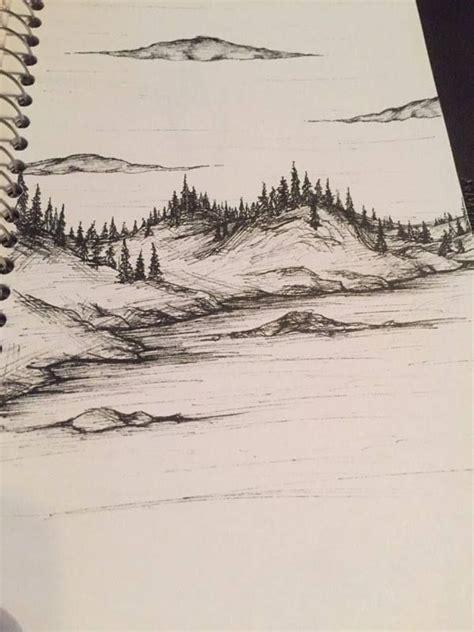 best 25 landscape drawings ideas on trees