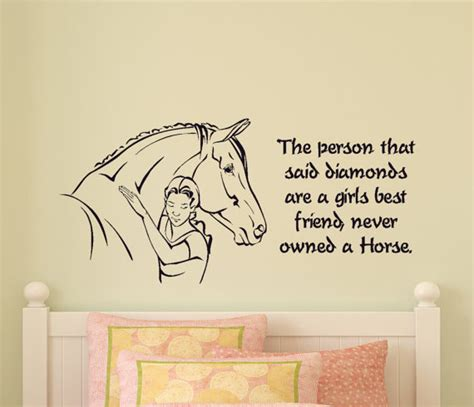 horse decal pony quote wall sticker teen girls room decal girls bedroom horse wall decal pony quote sticker teen room
