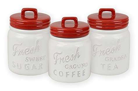 vintage style kitchen canisters dii 3 pieces vintage retro farmhouse chic jar import it all