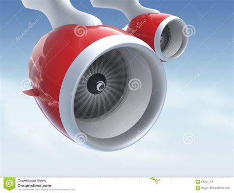 two jet turbofan engines on blue background stock illustration image 59260144