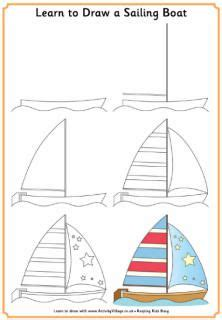 boat drawing activity 25 best ideas about sailboat drawing on pinterest ocean