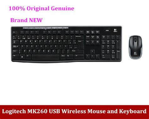 Keyboard Mouse Logitech Wireless Usb free shipping 100 original genuine logitech mk260 usb
