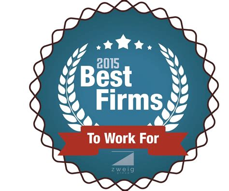 best firm zweig announces 2015 best firms to work for list