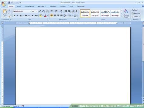create  brochure  microsoft word   samples